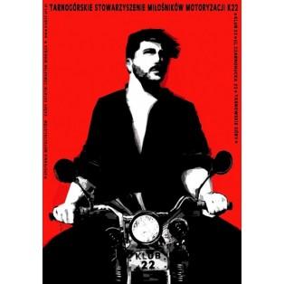 Motorbikers Club 22 Ryszard Kaja Polish Poster Art Advertising Tourism Travels Political Sport Judaica Posters