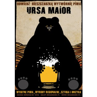 Ursa maior, beer Ryszard Kaja Polish Poster Art Advertising Tourism Travels Political Sport Judaica Posters