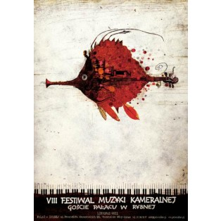 Music Festival in Rybna, VIII. Ryszard Kaja Polish Poster Art Advertising Tourism Travels Political Sport Judaica Posters