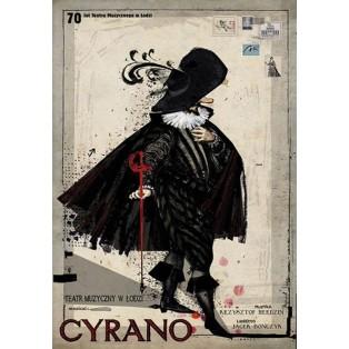 Cyrano Krzysztof Herdzin and Jacek Bończyk Ryszard Kaja Polish Music Posters