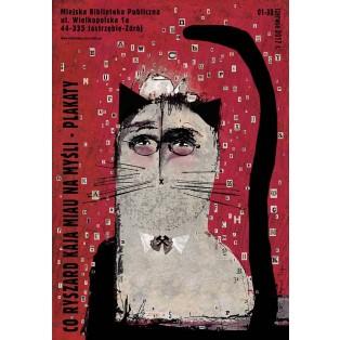 Co Ryszard Kaja miau na myśli Ryszard Kaja Polish Exhibition Posters