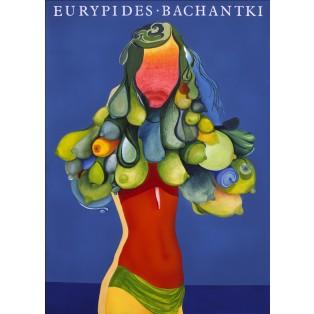 Bacchae Euripides Leonard Konopelski Polish Theater Posters