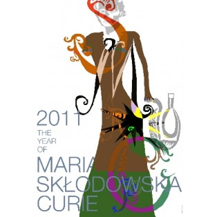 Year of Maria Sklodowska Curie 2011 Leonard Konopelski Polish Poster Art Advertising Tourism Travels Political Sport Judaica Posters