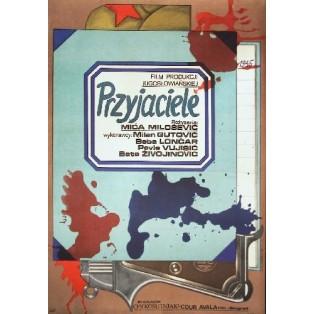 Pals Mica Milosevic Andrzej Krajewski Polish Film Posters
