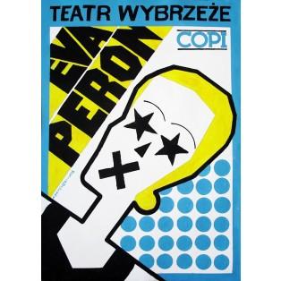 Eva Peron Copi Andrzej Krajewski Polish Theater Posters
