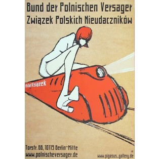 Polish failures society in Berlin Michał Książek Polish Poster Art Advertising Tourism Travels Political Sport Judaica Posters