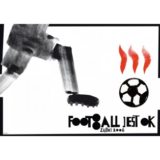 Footbol is OK! ball Sebastian Kubica Polish Poster Art Advertising Tourism Travels Political Sport Judaica Posters