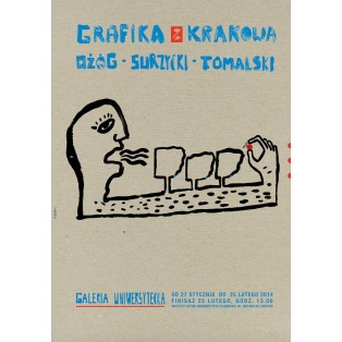 Graphics from Cracow - Ożóg, Surzycki, Tomalski Sebastian Kubica Polish Exhibition Posters