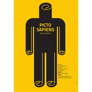 Picto Sapiens Irek Kuriata Polish Exhibition Posters