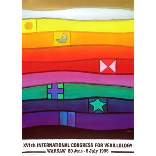 International Congress for Vexillology XVI th Jan Lenica Polish Poster Art Advertising Tourism Travels Political Sport Judaica Posters