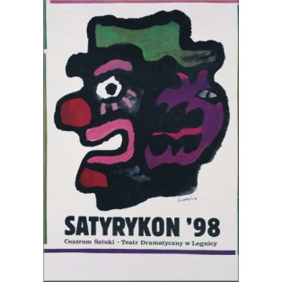 Satyrykon 1998 Jan Lenica Polish Exhibition Posters