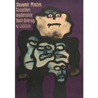 Fortunate event Sławomir Mrożek Jan Lenica Polish Theater Posters