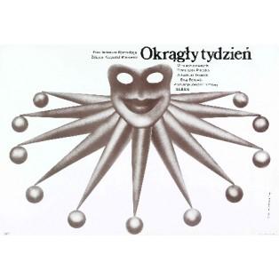 Round Week Tadeusz Kijański Lech Majewski Polish Film Posters