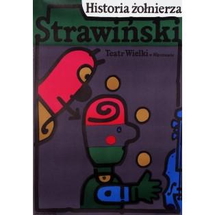 Soldier's Tale Igor Strawinski Jan Młodożeniec Polish Opera Posters