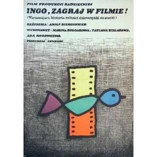 Want to Be in Movies, Girl? Adolf Bergunker Jan Młodożeniec Polish Film Posters