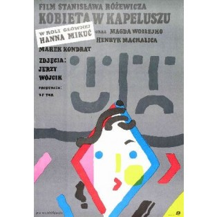 Woman in a Hat Stanisław Różewicz Jan Młodożeniec Polish Film Posters