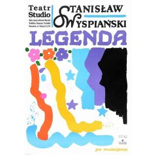 Legend Stanisław Wyspiański Jan Młodożeniec Polish Theater Posters
