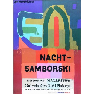 Nacht – Samborski Painting Jan Młodożeniec Polish Exhibition Posters