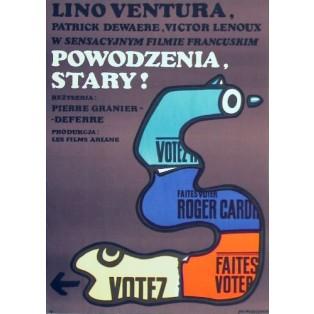 The French Detective Pierre Granier-Deferre Jan Młodożeniec Polish Film Posters