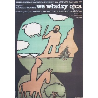 Father and Master Paolo Taviani Jan Młodożeniec Polish Film Posters