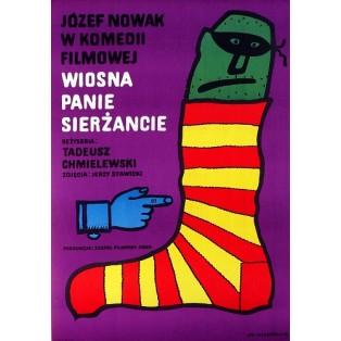 It's Spring, Sergeant Tadeusz Chmielewski Jan Młodożeniec Polish Film Posters
