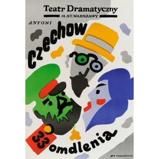 33 faintings Anton Chekhov Jan Młodożeniec Polish Theater Posters