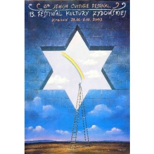 Festival of the jewish Culture 2003 Rafał Olbiński Polish Poster Art Advertising Tourism Travels Political Sport Judaica Posters