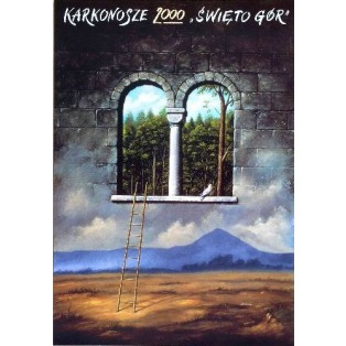 Karkonosze 2000 Mountain Festival Rafał Olbiński Polish Poster Art Advertising Tourism Travels Political Sport Judaica Posters