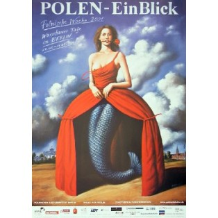 Polish week in Berlin Rafał Olbiński Polish Poster Art Advertising Tourism Travels Political Sport Judaica Posters