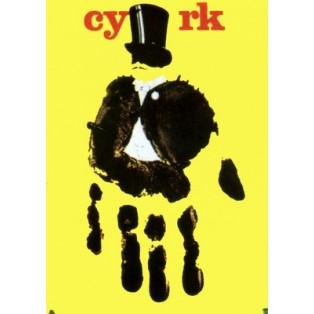 Circus Yellow Hand Andrzej Pągowski Polish Circus Posters