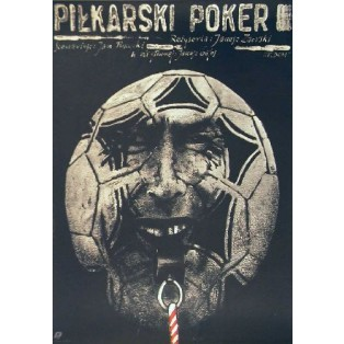 Soccer Poker Janusz Zaorski Andrzej Pągowski Polish Film Posters