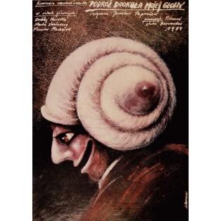 Round My Head in 40 Days  Andrzej Pągowski Polish Film Posters