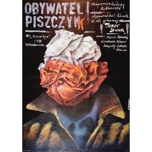 Citizen Piszczyk Andrzej Kotkowski Andrzej Pągowski Polish Film Posters