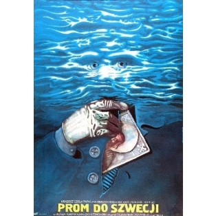 Ferry Boat to Sweden Włodzimierz Haupe Marek Płoza-Doliński Polish Film Posters