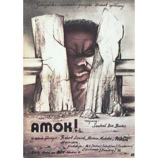 Amok Souheil Ben-Barka Jerzy Głuszek Polish Film Posters