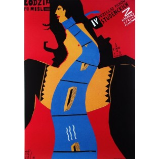 Students Film Festival Piotr Kossakowski Polish Poster Art Advertising Tourism Travels Political Sport Judaica Posters
