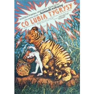 What Do the Tigers Like Krzysztof Nowak Janusz Obłucki Polish Film Posters