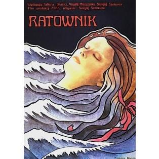 The Rescuer Sergei Solovyov Krystyna Hoffman-Pągowska Polish Film Posters