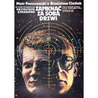 Shut the door behind Krzysztof Szmagier Janusz Obłucki Polish Film Posters