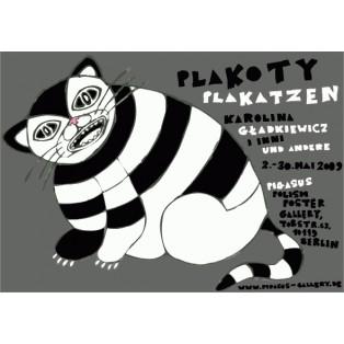 PlaCats Karolina Gładkiewicz Polish Exhibition Posters