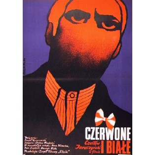 Red and the White Paweł Komorowski Elżbieta Procka Polish Film Posters