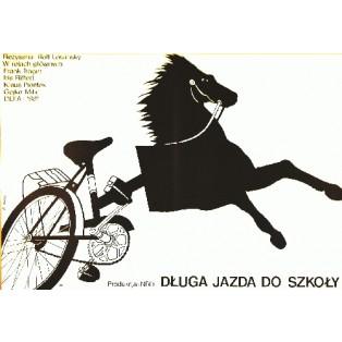 Long ride to school Rolf Losansky Elżbieta Procka Polish Film Posters