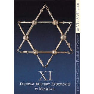 Festival of the jewish Culture Cracow Witold Chmielewski Polish Poster Art Advertising Tourism Travels Political Sport Judaica Posters