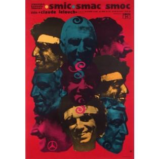 Smic, Smac, Smoc Claude Lelouch Ryszard Kiwerski Polish Film Posters