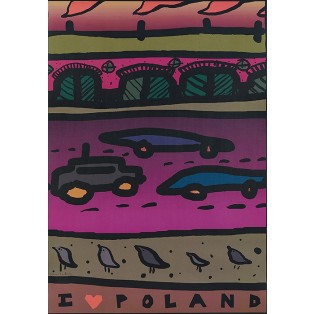 I love Poland Weronika Ratajska Polish Poster Art Advertising Tourism Travels Political Sport Judaica Posters
