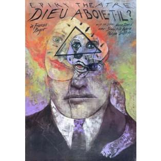 Dieu aboie-t-il?, François Boyer Wiktor Sadowski Polish Theater Posters
