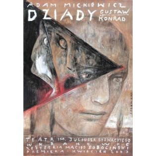 Forefathers' Eve, Adam Mickiewicz Wiktor Sadowski Polish Theater Posters