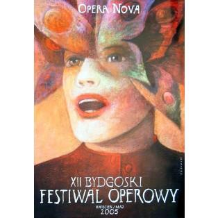 Bydgoszcz Opera Festival XII.  Wiktor Sadowski Polish Theater Posters