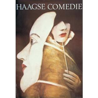 Haagse Comedie Wiktor Sadowski Polish Theater Posters