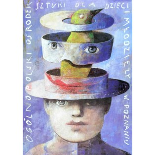 Centre of Art for Children Poznań Wiktor Sadowski Polish Poster Art Advertising Tourism Travels Political Sport Judaica Posters